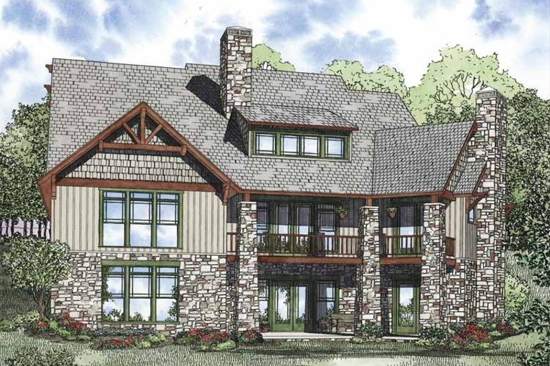 Craftsman Exterior - Rear Elevation Plan #17-3323 - Houseplans.com