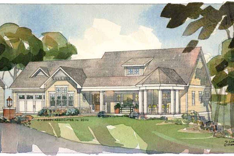 Craftsman Exterior - Front Elevation Plan #928-84