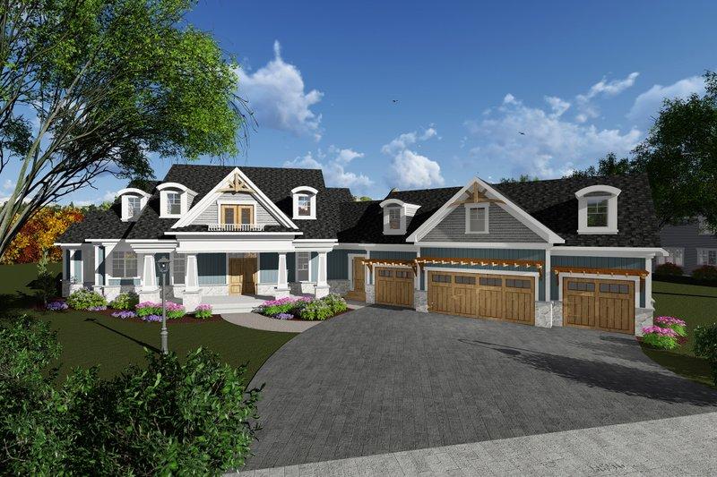 Home Plan - Craftsman Exterior - Front Elevation Plan #70-1288