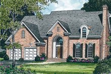 House Plan Design - Colonial Exterior - Front Elevation Plan #453-211