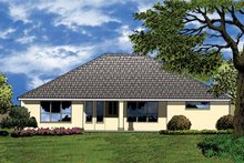 Dream House Plan - Mediterranean Exterior - Rear Elevation Plan #1015-15