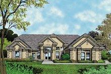 Architectural House Design - Mediterranean Exterior - Front Elevation Plan #417-511