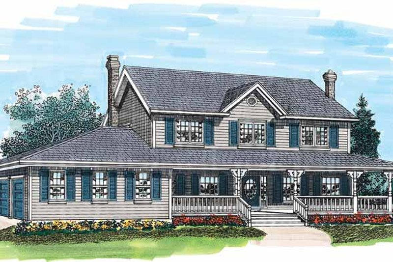 Dream House Plan - Victorian Exterior - Front Elevation Plan #47-768