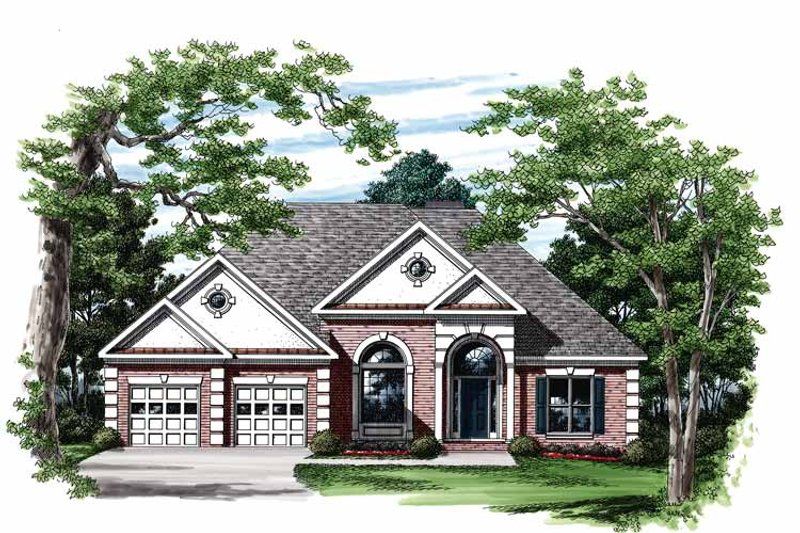 Mediterranean Exterior - Front Elevation Plan #927-105