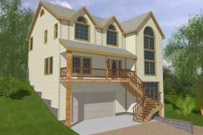 Traditional Exterior - Front Elevation Plan #117-154 - Houseplans.com