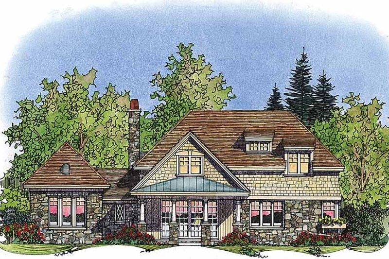 Country Exterior - Rear Elevation Plan #1016-69 - Houseplans.com