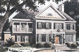 Dream House Plan - Country Exterior - Front Elevation Plan #429-362