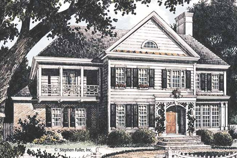 Country Exterior - Front Elevation Plan #429-362