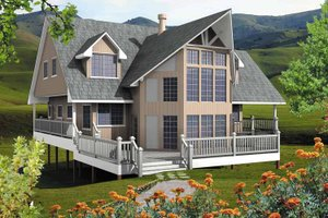 Dream House Plan - European Exterior - Front Elevation Plan #118-155