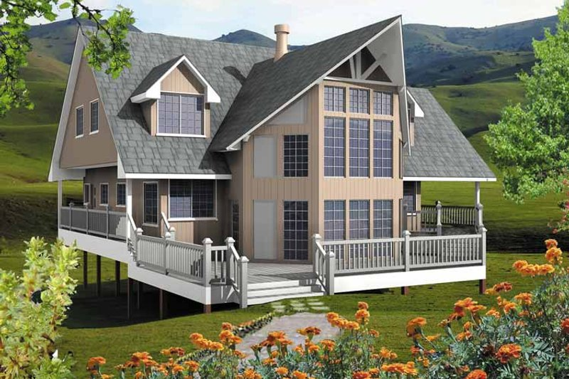 European Exterior - Front Elevation Plan #118-155 - Houseplans.com
