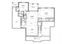 Country Floor Plan - Lower Floor Plan Plan #437-72