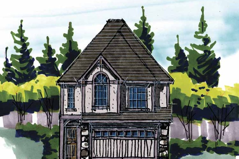 Traditional Exterior - Front Elevation Plan #509-215