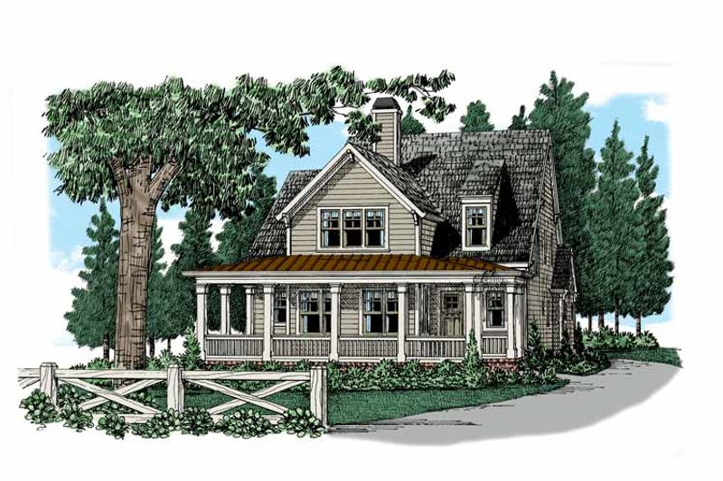 Colonial Exterior - Front Elevation Plan #927-944 - Houseplans.com