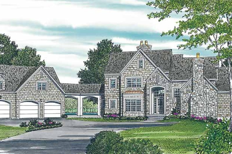 Architectural House Design - Country Exterior - Front Elevation Plan #453-231