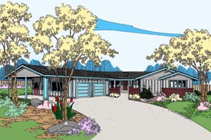 Ranch Exterior - Front Elevation Plan #60-509 - Houseplans.com