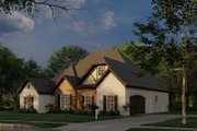European Style House Plan - 4 Beds 3 Baths 2071 Sq/Ft Plan #923-28 Exterior - Other Elevation
