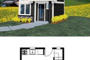 Modern Style House Plan - 1 Beds 1.5 Baths 502 Sq/Ft Plan #509-37 Exterior - Other Elevation