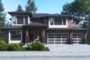 Contemporary Style House Plan - 5 Beds 4.5 Baths 4481 Sq/Ft Plan #1066-63 Exterior - Front Elevation