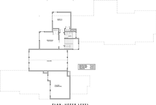 Contemporary Floor Plan - Upper Floor Plan Plan #892-15