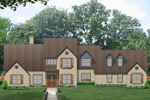 Country Exterior - Front Elevation Plan #84-437