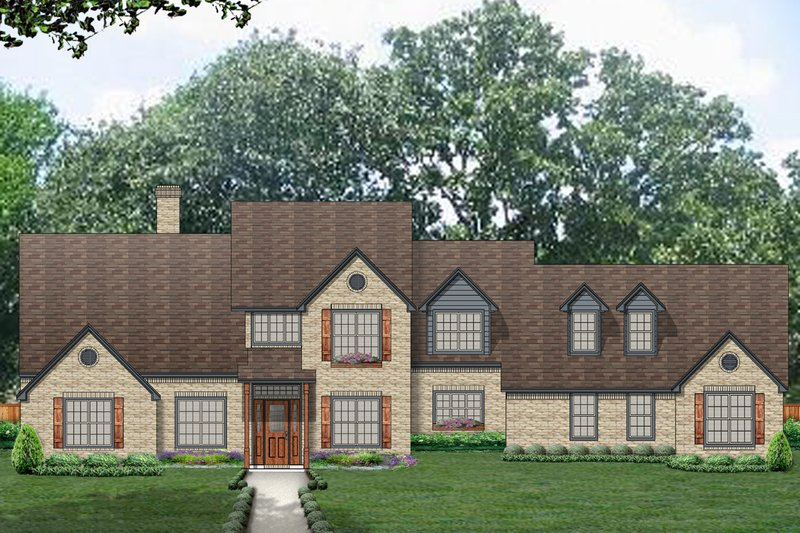 Architectural House Design - Country Exterior - Front Elevation Plan #84-437