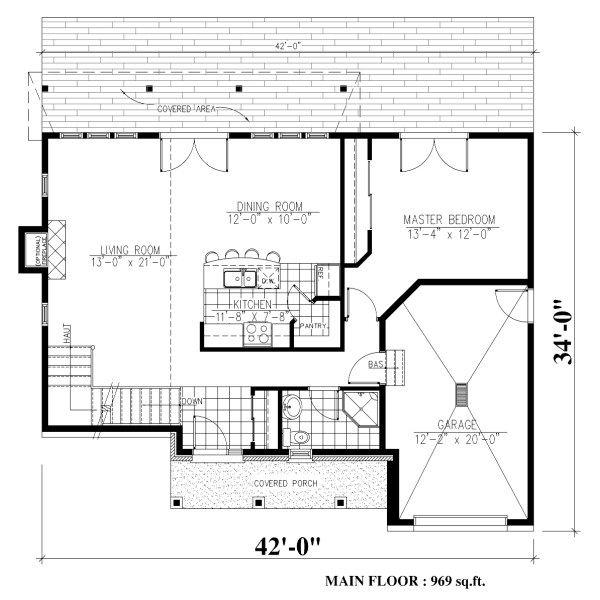 Cottage Floor Plan - Main Floor Plan Plan #138-341
