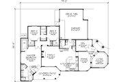 Mediterranean Style House Plan - 3 Beds 2.5 Baths 2508 Sq/Ft Plan #320-148 Floor Plan - Main Floor