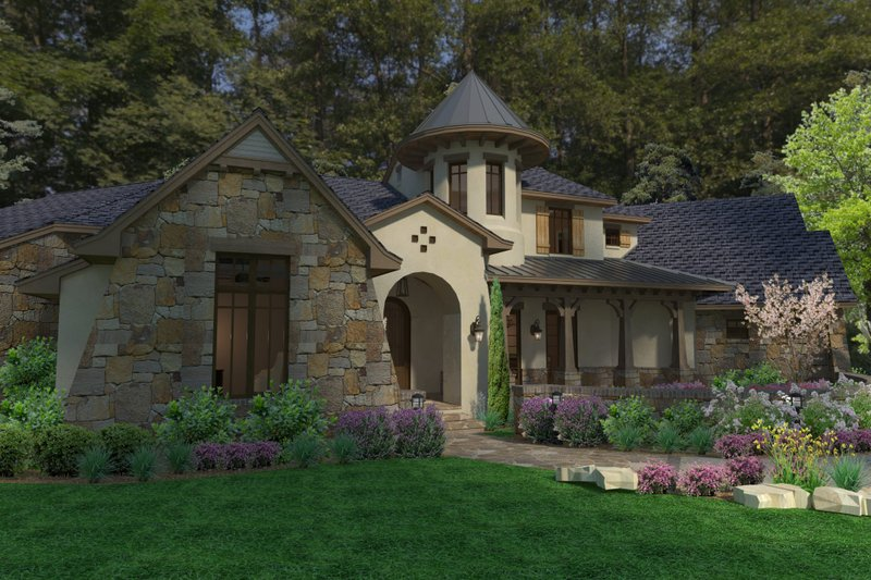 European Exterior - Other Elevation Plan #120-185 - Houseplans.com