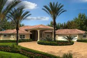 Mediterranean Style House Plan - 4 Beds 3 Baths 3568 Sq/Ft Plan #420-218