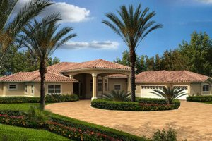 Mediterranean Exterior - Front Elevation Plan #420-218