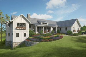 Home Plan - Farmhouse Exterior - Front Elevation Plan #928-338