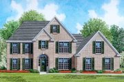 Traditional Style House Plan - 3 Beds 3.5 Baths 2803 Sq/Ft Plan #424-40 Exterior - Front Elevation