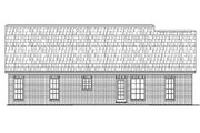 Ranch Style House Plan - 3 Beds 2 Baths 1400 Sq/Ft Plan #430-10 Exterior - Rear Elevation