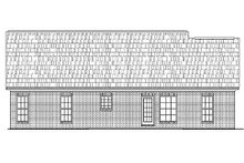 Ranch Exterior - Rear Elevation Plan #430-10