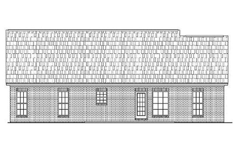 Ranch Exterior - Rear Elevation Plan #430-10 - Houseplans.com