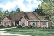 European Style House Plan - 4 Beds 3 Baths 2540 Sq/Ft Plan #17-1035 Exterior - Front Elevation