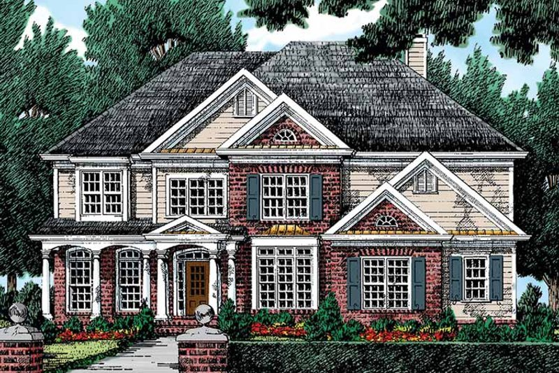 Colonial Exterior - Front Elevation Plan #927-812 - Houseplans.com