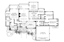 Craftsman Floor Plan - Main Floor Plan Plan #929-928
