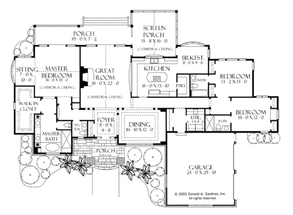 Craftsman Floor Plan - Main Floor Plan Plan #929-928
