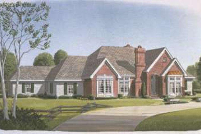 Architectural House Design - European Exterior - Front Elevation Plan #410-269