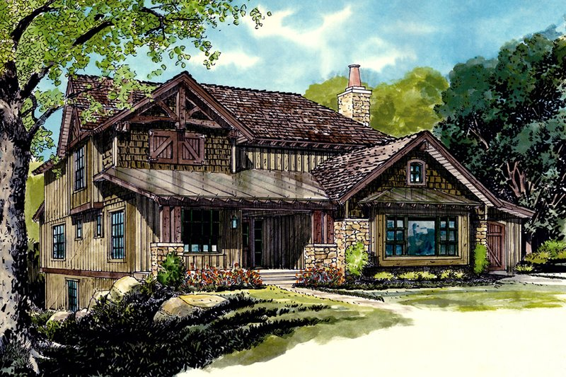 Architectural House Design - Country Exterior - Front Elevation Plan #942-47