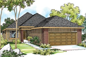 Dream House Plan - Exterior - Front Elevation Plan #124-334