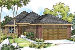 Dream House Plan - Exterior - Front Elevation Plan #124-334