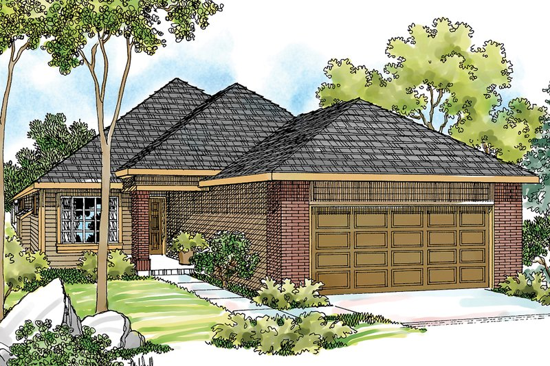 Exterior - Front Elevation Plan #124-334