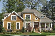 Craftsman Style House Plan - 4 Beds 4.5 Baths 3680 Sq/Ft Plan #453-14 Exterior - Front Elevation