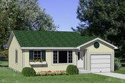 Cottage Style House Plan - 2 Beds 1 Baths 810 Sq/Ft Plan #116-208
