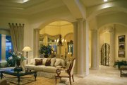 Mediterranean Style House Plan - 3 Beds 3.5 Baths 4255 Sq/Ft Plan #930-188 Interior - Family Room