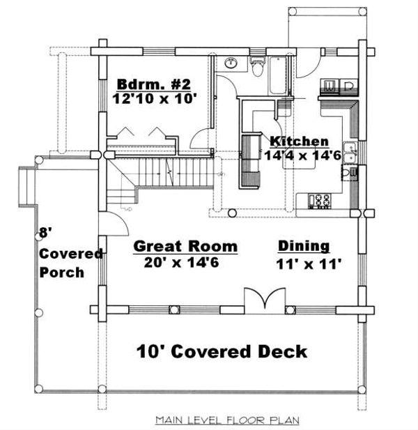 Log Floor Plan - Main Floor Plan Plan #117-556
