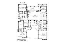 Mediterranean Floor Plan - Main Floor Plan Plan #920-66