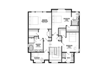 Craftsman Floor Plan - Upper Floor Plan Plan #928-277